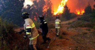 Alerta roja por incendio